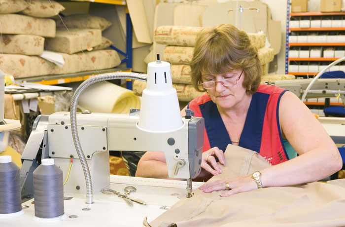All our made-to-measure static caravn curtains are made by our in-house machinists