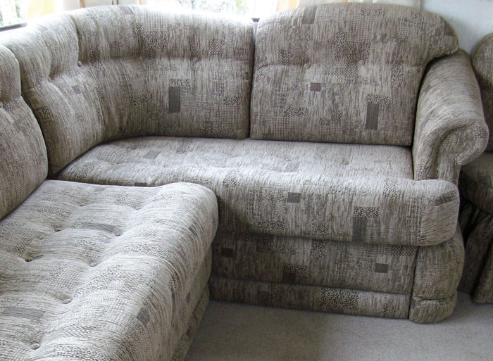 Upholstery for fitted static caravan furniture is not a problem