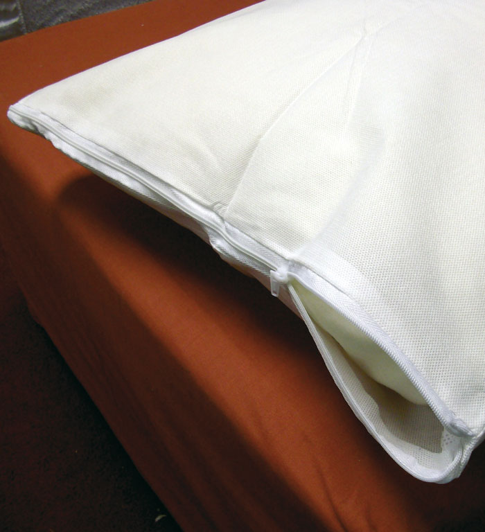 One of our 9 types of pillow protector ideal for hire static caravans