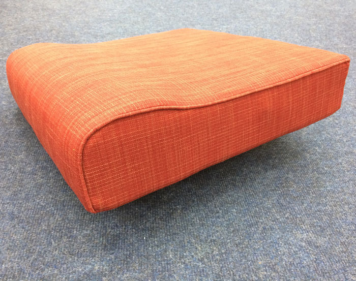 One of our 'Easy Care' specification re-upholstered cushions
