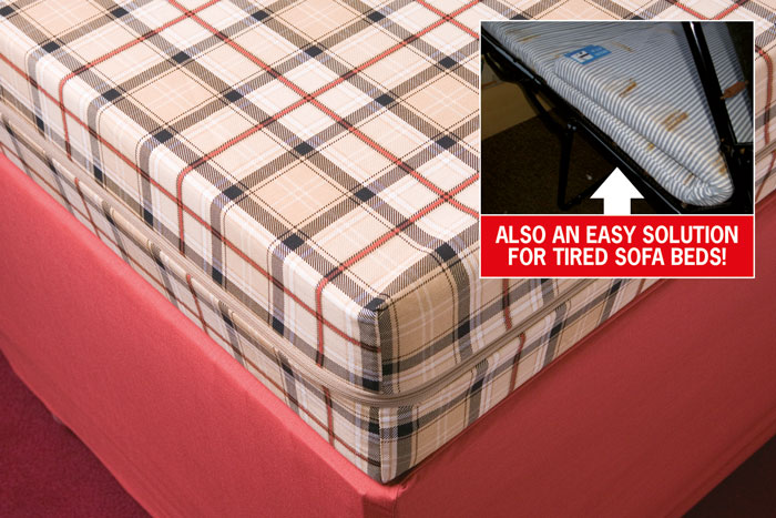 Our made-to-measure mattress covers can be made ant size even for fold out static caravan sofa beds